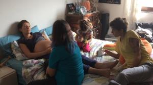 Una delle visite fatte in casa con le ostetriche Valentina e Veronica