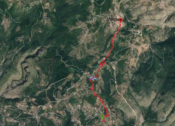 Questa è la strada percorsa da Nicola e Fela tra Sapri e Torraca