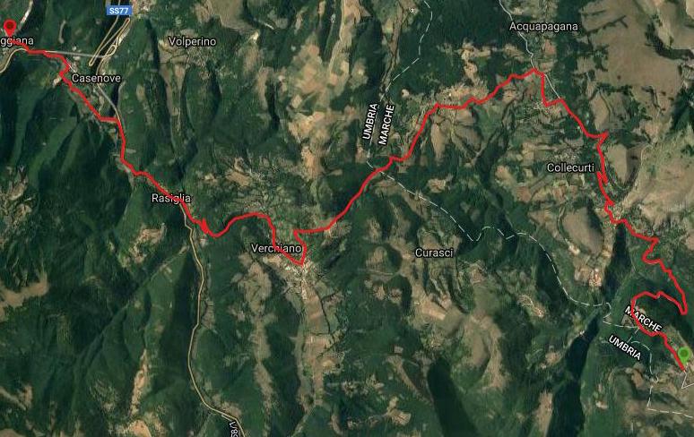 Questa è la strada percorsa da Nicola e Fela tra Rasenna-Leggiana