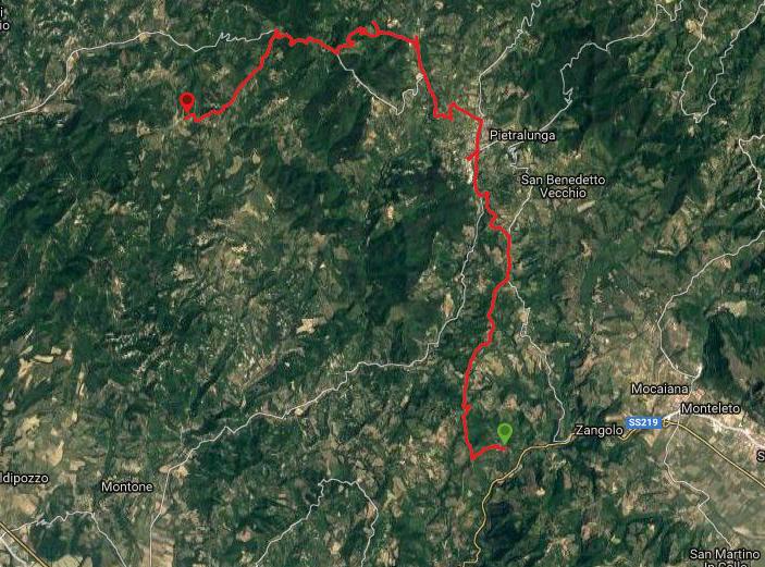 Questa è la strada percorsa da Nicola e Fela tra Zangolo-Pietralunga