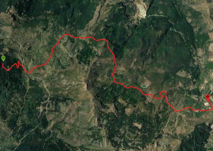 questa è la strada che Nicola e Piriddu hanno percorso da Bosco vicino Geraci-Geraci Siculo