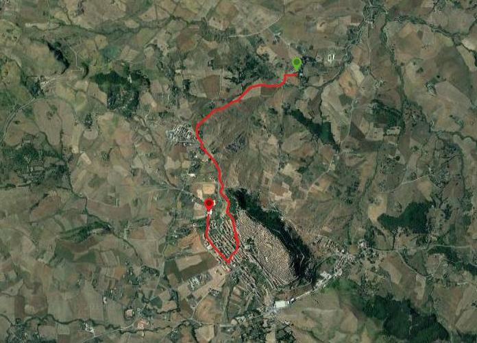questa è la strada che Nicola e Piriddu hanno percorso da Casale Villa Rainò-Gangi Carcere