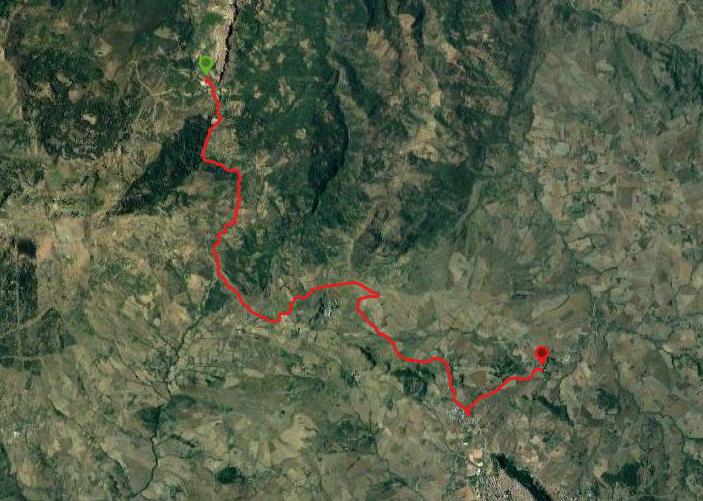 questa è la strada che Nicola e Piriddu hanno percorso da Geraci-Casale Villa Rainò