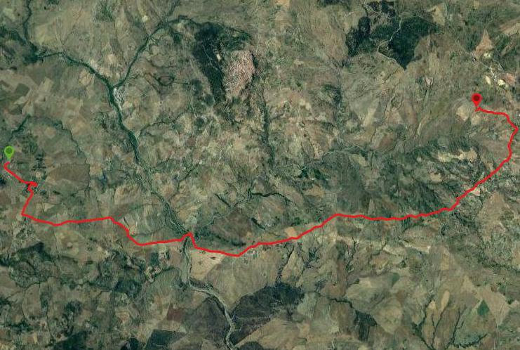 questa è la strada che Nicola e Piriddu hanno percorso da Pancallo-Troina