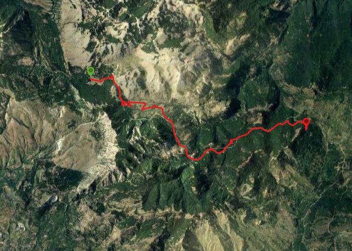 questa è la strada che Nicola e Piriddu hanno percorso da Piano Battaglia-Bosco vicino Geraci