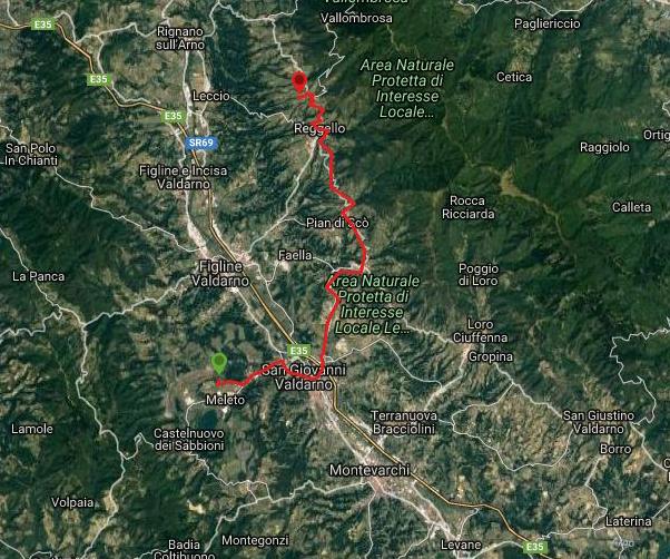 Questa è la strada percorsa da Nicola e Fela tra Pietrapiana-Ranch Margherita