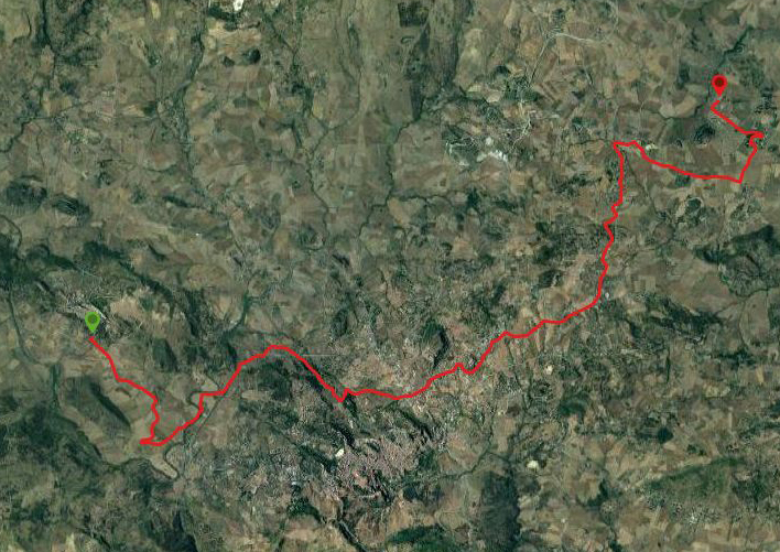 questa è la strada che Nicola e Piriddu hanno percorso da Sperlinga-Pancallo