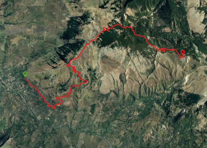 questa è la strada che Nicola e Piriddu hanno percorso Scillato-Portella Colla