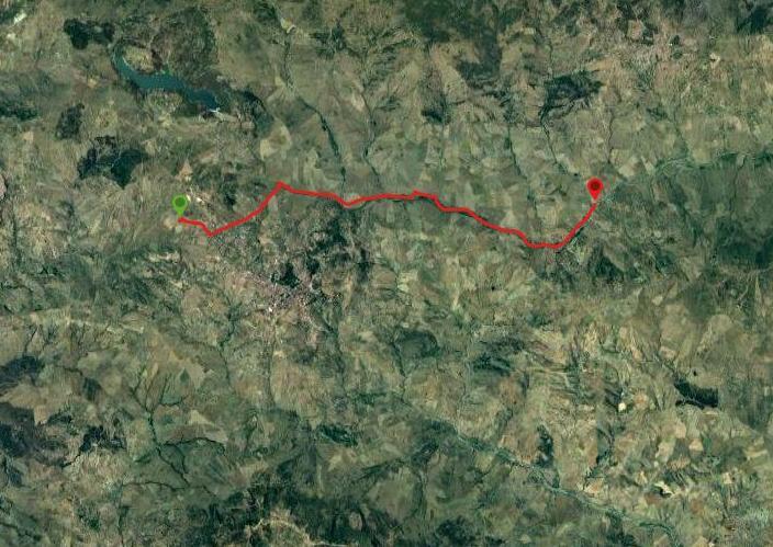 questa è la strada che Nicola e Piriddu hanno percorso da Troina-Bordo Fiume(Borgo Giuliano)